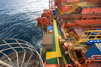Oil Rig Deck View